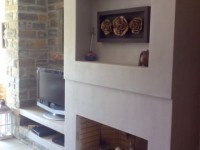 Fireplace renovation - Tzia island, Greece (Concrete Collection - Byzantium)